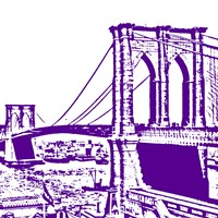 Purple Brooklyn Bridge Fine-Art Print