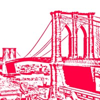 Red Brooklyn Bridge Fine-Art Print