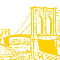Yellow Brooklyn Bridge Fine-Art Print