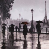 Paris Red Umbrella Fine-Art Print