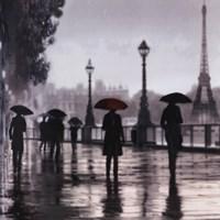Paris Red Umbrella Fine-Art Print