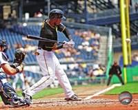 Starling Marte Hitting Baseball Fine-Art Print