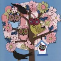 Summer Owl Tree Fine-Art Print