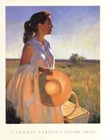 Woman in Garden Fine-Art Print