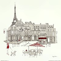 World Cafe II - Paris Red Fine-Art Print