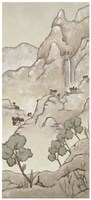 Non-Embellished Chinoiserie Landscape I Fine-Art Print