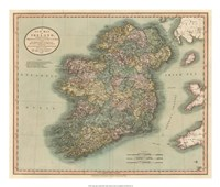 Vintage Map of Ireland Fine-Art Print
