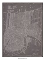 City Map of New Orleans Fine-Art Print