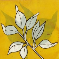 Gold Batik Botanical I Fine-Art Print