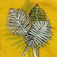 Gold Batik Botanical III Fine-Art Print