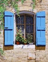 Blue Shutters Fine-Art Print