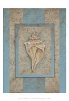 Shell & Damask Stripe II Fine-Art Print