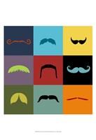 Moustache Grid Fine-Art Print