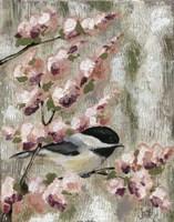 Cherry Blossom Bird I Fine-Art Print