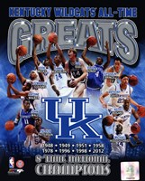 University of Kentucky Wildcats All Time Greats Composite Fine-Art Print