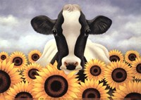 Surrounded by Sunflowers Fine-Art Print