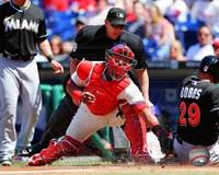 Carlos Ruiz Baseball Tag Fine-Art Print