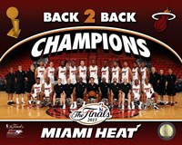 Miami Heat 2013 NBA Champions Team Photo Fine-Art Print