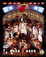 Miami Heat 2013 NBA Champions Composite Fine-Art Print