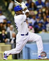 Yasiel Puig Baseball Hitting Action Fine-Art Print