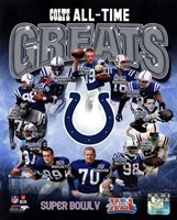 Indianapolis Colts All Time Greats Composite Fine-Art Print