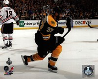 Patrice Bergeron Goal Celebration Game 3 of the 2013 Stanley Cup Finals Fine-Art Print