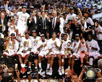 The Miami Heat Celebrate Winning Game 7 of the 2013 NBA Finals Fine-Art Print
