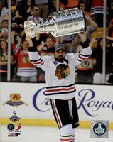 Patrick Sharp with the Stanley Cup Game 6 of the 2013 Stanley Cup Finals Fine-Art Print