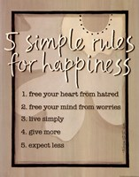 Five Simple Rules Fine-Art Print