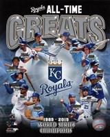 Kansas City Royals All Time Greats Composite Fine-Art Print