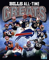 Buffalo Bills All Time Greats Composite Fine-Art Print