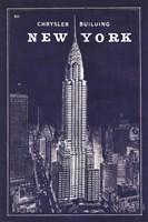 Blueprint Map New York Chrysler Building Fine-Art Print