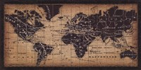 Old World Map ( in French) Fine-Art Print