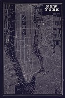 Blueprint Map New York Fine-Art Print