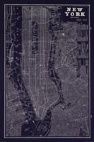 Blueprint Map New York Fine-Art Print