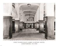 First Floor Main Lobby O. Henry Hotel Greensboro NC 1978 Fine-Art Print