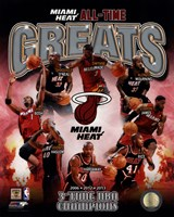 Miami Heat All Time Greats Composite Fine-Art Print