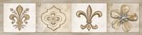 Fleur 4 Panel I Fine-Art Print