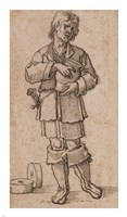 A Young Peasant Holding a Jar Fine-Art Print