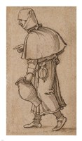 A Peasant Woman Carrying a Jug Fine-Art Print