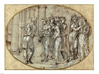 Odysseus and the Daughters of Lycomedes Fine-Art Print