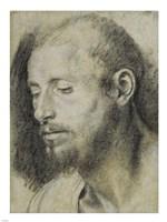 Study of the Head of a Bearded Man Fine-Art Print