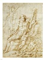 Hercules Resting after Killing the Hydra Fine-Art Print