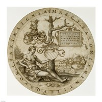 Study for a Stained-Glass Window with the Coat of Arms of the Barons von Paar Fine-Art Print