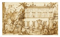 Taddeo Decorating the Facade of Palazzo Mattei Fine-Art Print