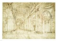 Interior of Saint Peter's Basilica Fine-Art Print