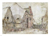View of a Farm Courtyard Fine-Art Print