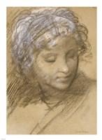 Head of a Female Figure Fine-Art Print