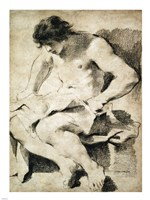 Study of a Seated Young Man Fine-Art Print