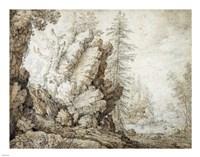 Landscape with Waterfall Fine-Art Print